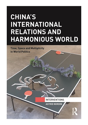 Book cover of China's international relations and harmonious world