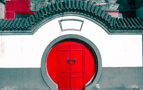 Chinese red gate